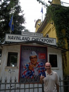 Navin Rawanchaikul represented Thailand at the 54th Venice Biennale (2011). His checkpoint at the outside of Paradiso Café.